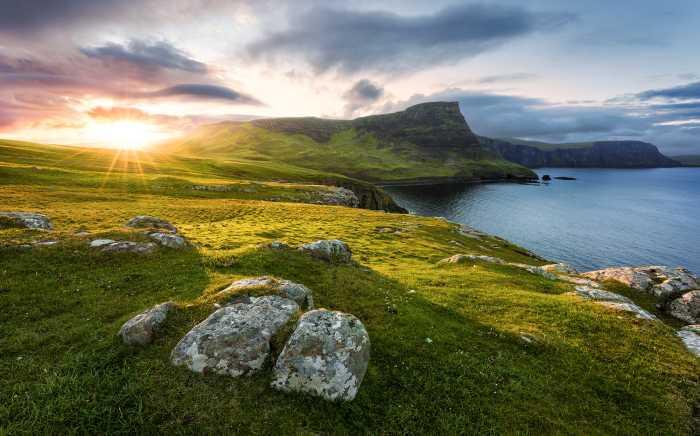Digital wallpaper Scottish Paradise
