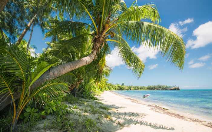 Digital wallpaper Fiji Dreams Boat