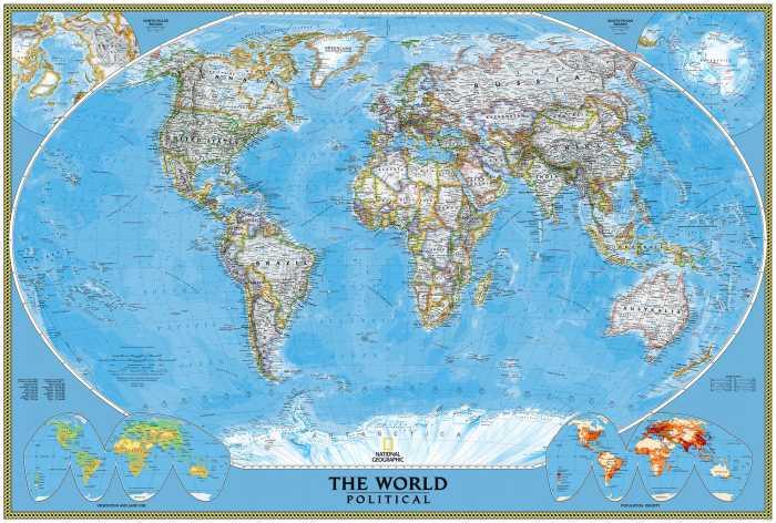 Photomural The World Political