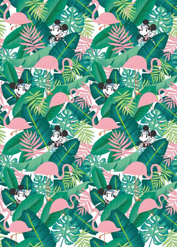 Digital wallpaper Minnie Tropical