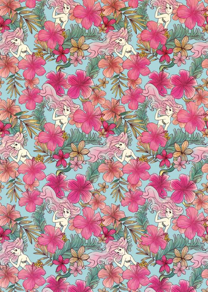 Digital wallpaper Ariel - Pink Flower