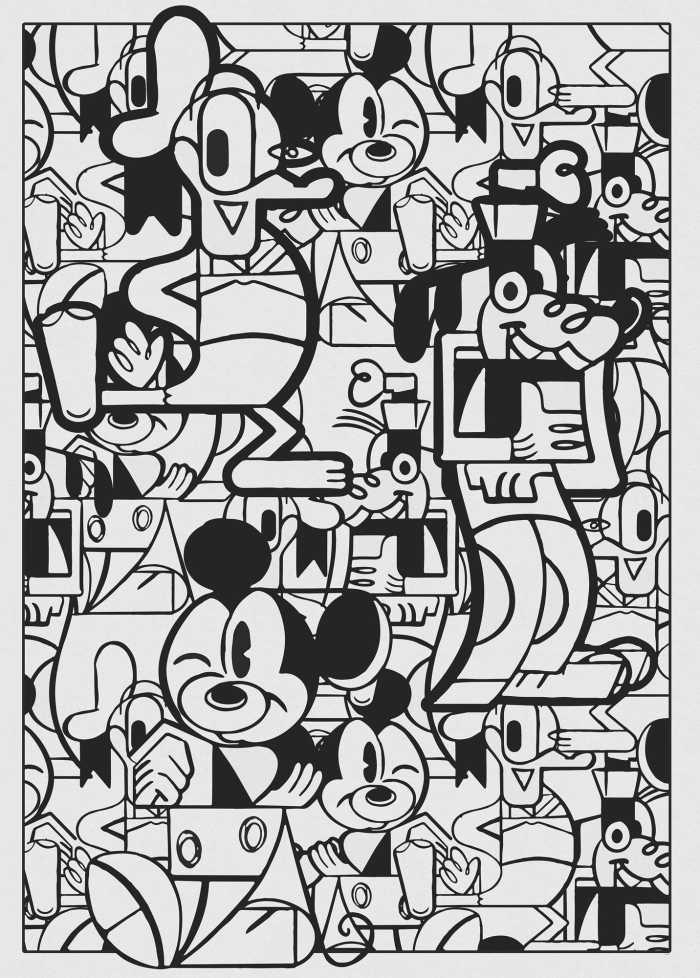 Digital wallpaper Mickey Constructive