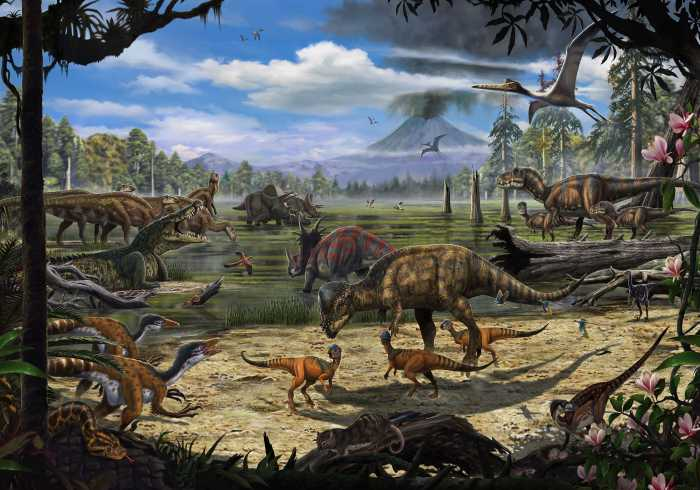 Digital wallpaper Dinosaurs on the Shore