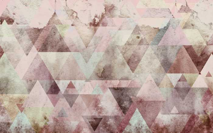 Digital wallpaper Triangles Red