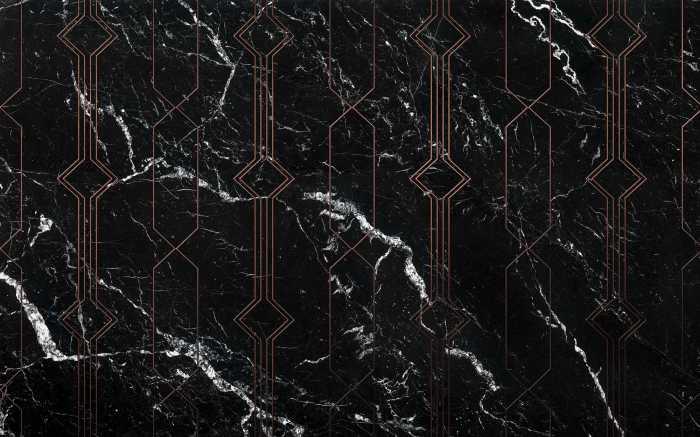 Digital wallpaper Marble Black