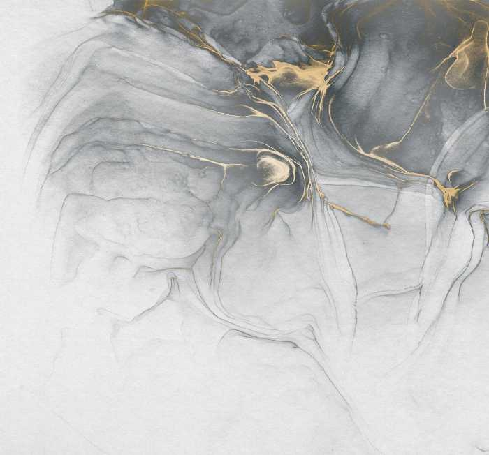 Digital wallpaper Ink Gold Fluid