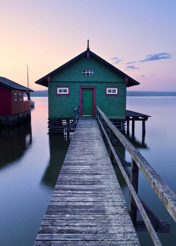 Digital wallpaper Das grüne Bootshaus