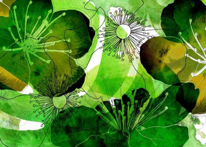 Digital wallpaper Aquarell