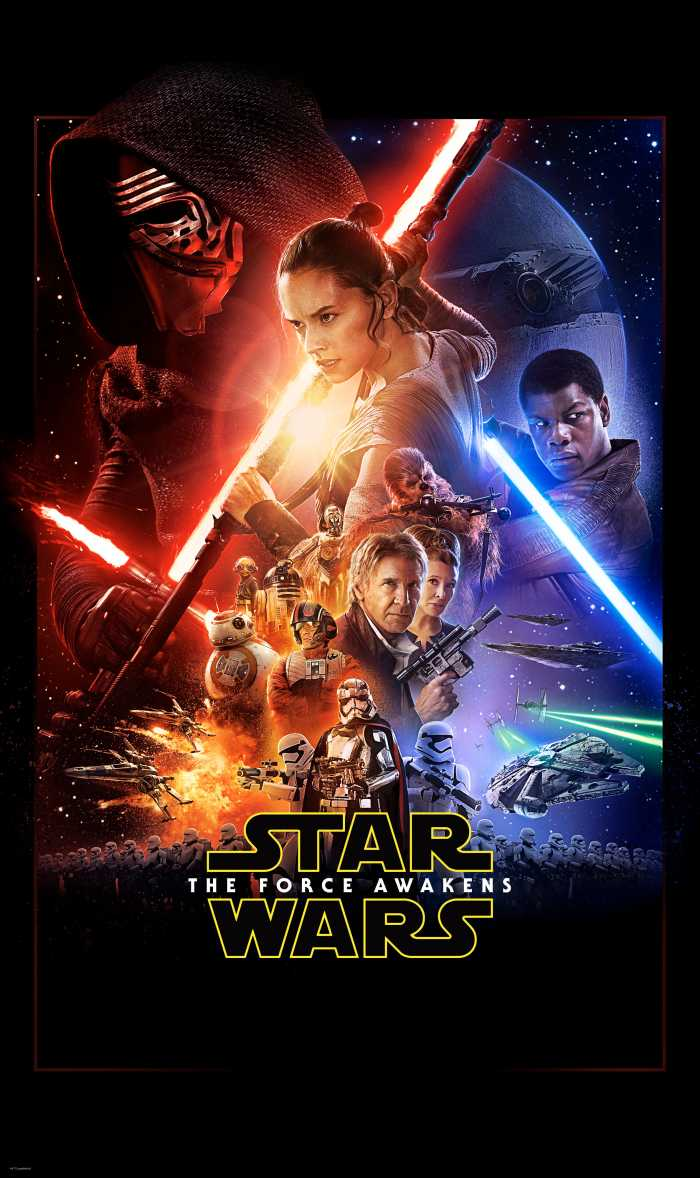 Panel Star Wars EP7 Official Movie Poster