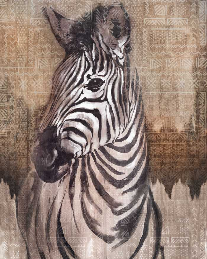 Digital wallpaper Zebra