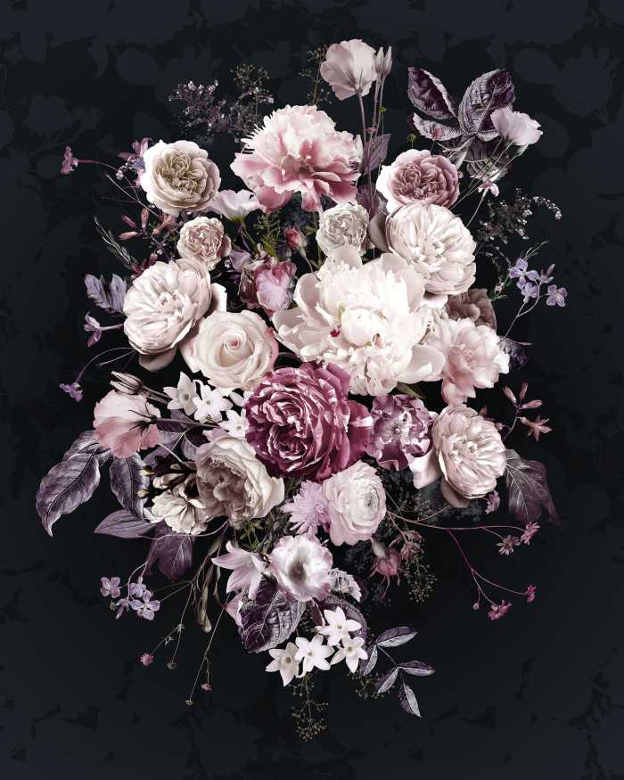 Digital wallpaper Bouquet Noir