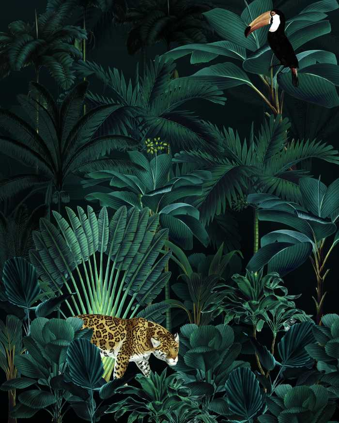 Digital wallpaper Jungle Night