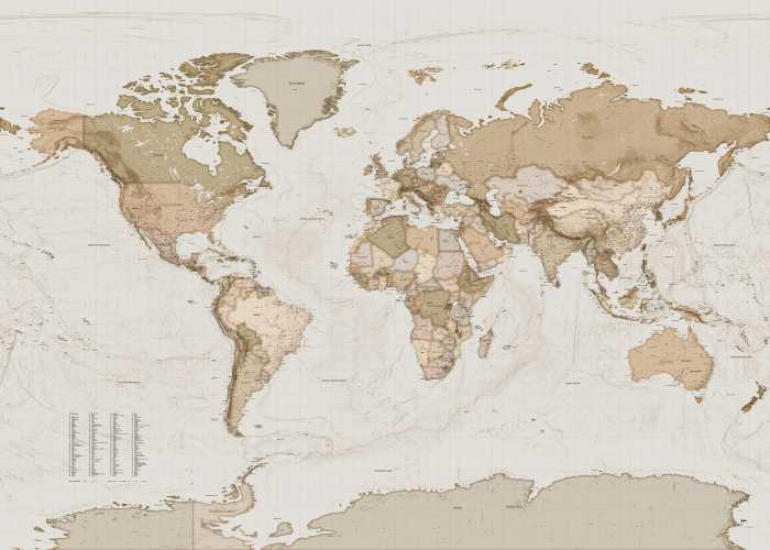 Digital wallpaper Earth Map