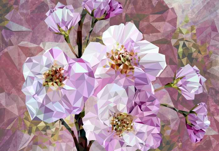 Non-woven photomural Blooming Gems