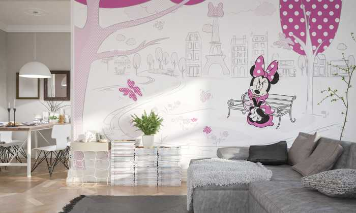 Digital wallpaper Minnie in Paris