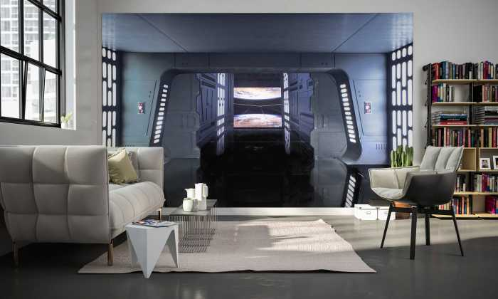 Digital wallpaper Star Wars Death Star Floor