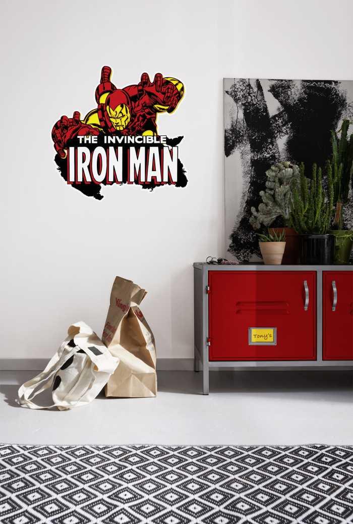 Wall tattoo Iron Man Comic Classic