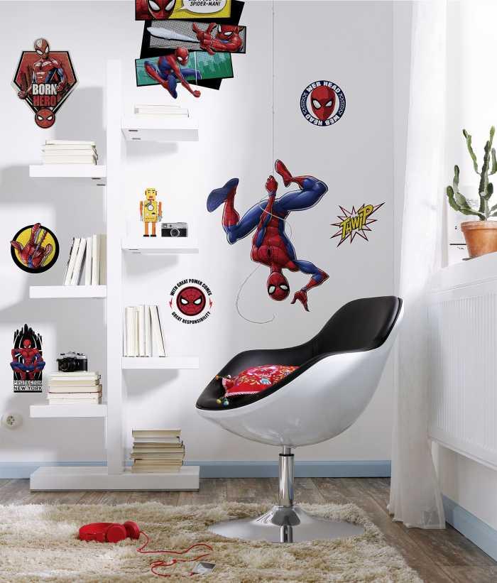Wall tattoo Spider-Man Web Head