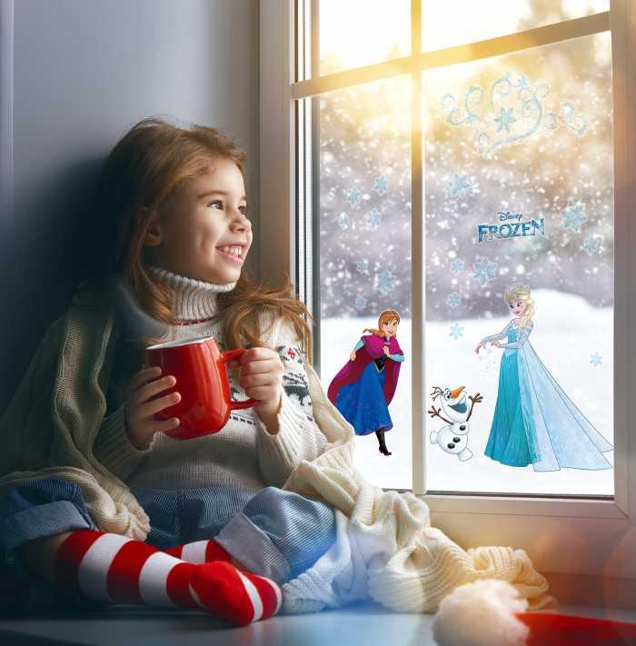 Window sticker Frozen Snowflake
