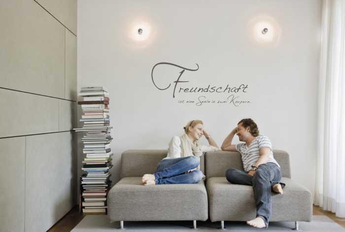 Wall tattoo Freundschaft