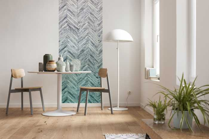 Panel Herringbone Mint Panel