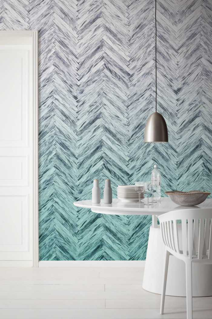 Digital wallpaper Herringbone Mint
