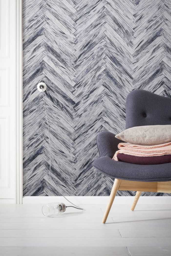 Digital wallpaper Herringbone Pure