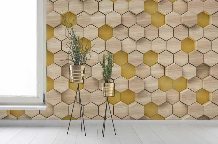 Digital wallpaper Woodcomb Birch