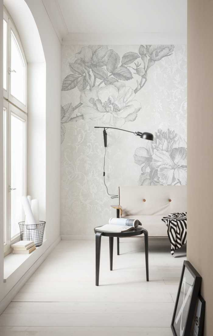 Digital wallpaper Baroque Grey