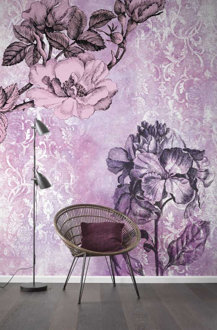 Digital wallpaper Baroque Pink