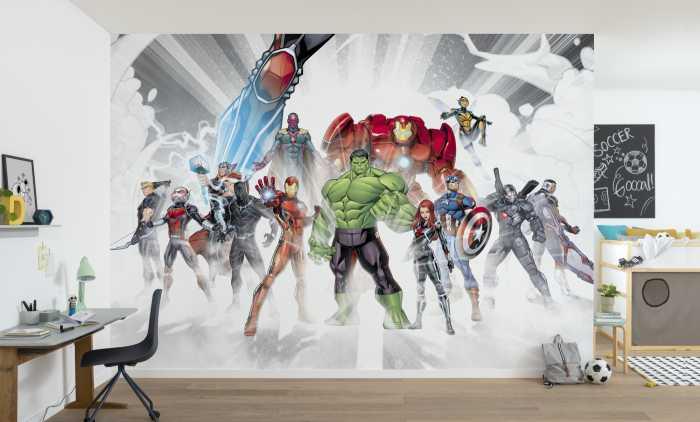 Photomural Marvel Avengers Unite