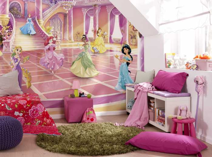 Photomural Disney Princess Glitzerparty