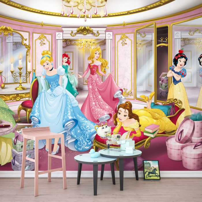 Photomural Disney Princess Mirror