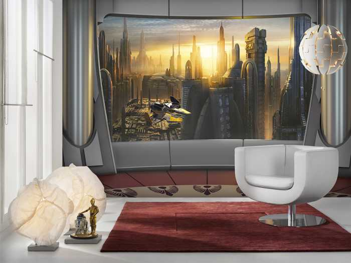 Photomural Star Wars Coruscant View