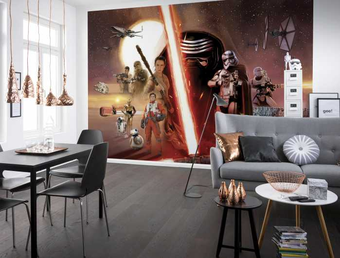 Photomural Star Wars EP7 Collage