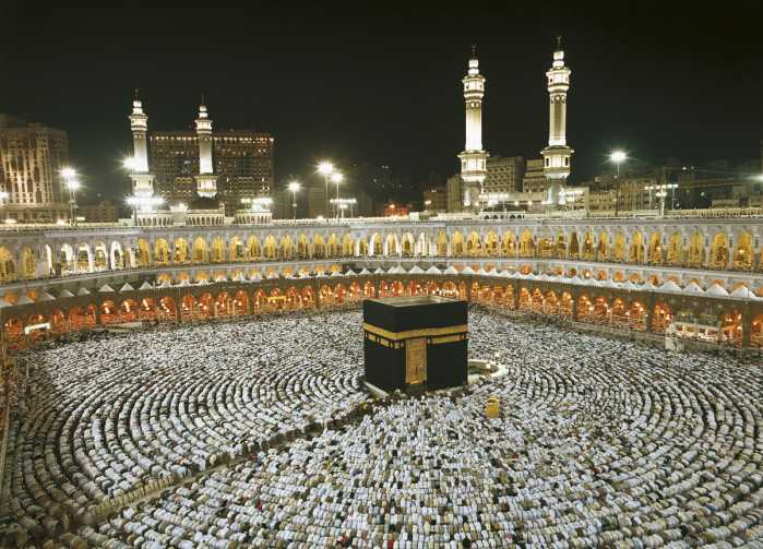 Photomural Kaaba at Night