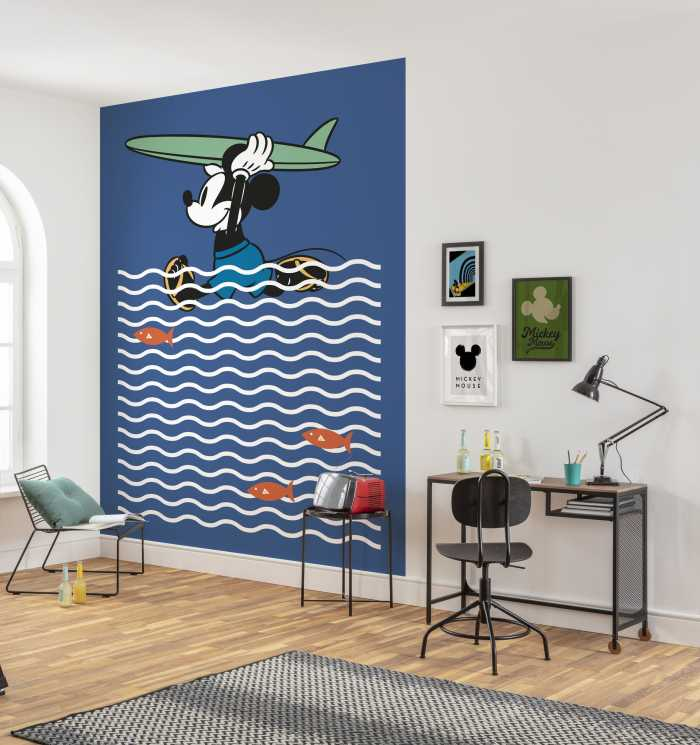 Digital wallpaper Mickey gone Surfin'