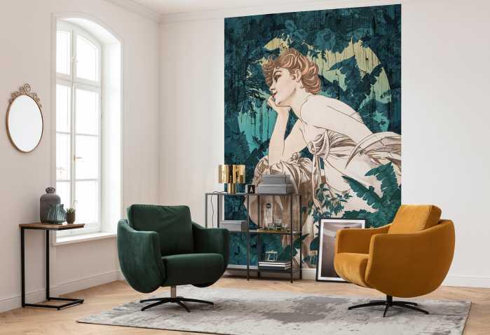 Digital wallpaper Songes Vert