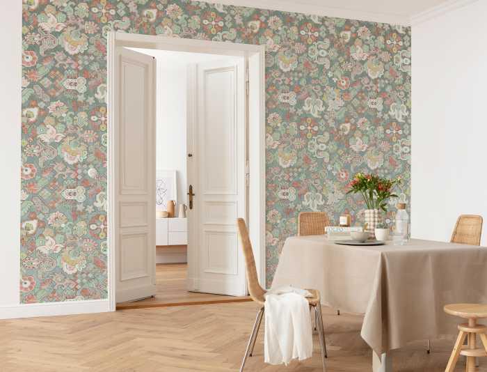 Digital wallpaper Fleurs d'Océan