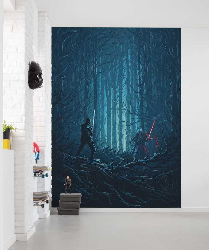 Digital wallpaper Star Wars Wood Fight
