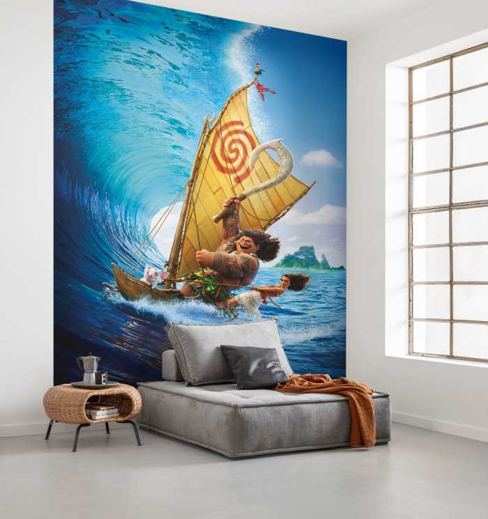 Digital wallpaper Moana Ride the Wave