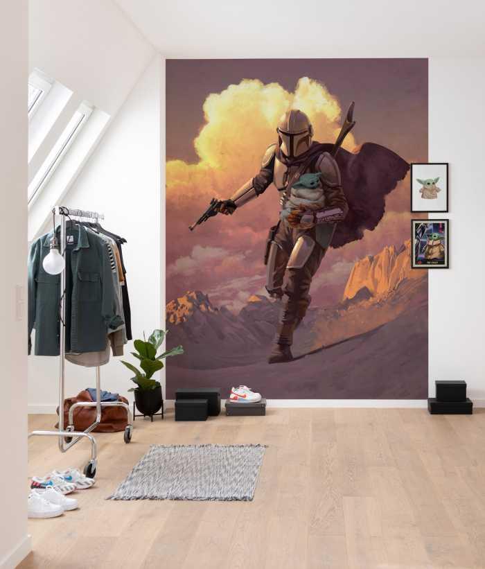 Digital wallpaper Mandalorian Escape