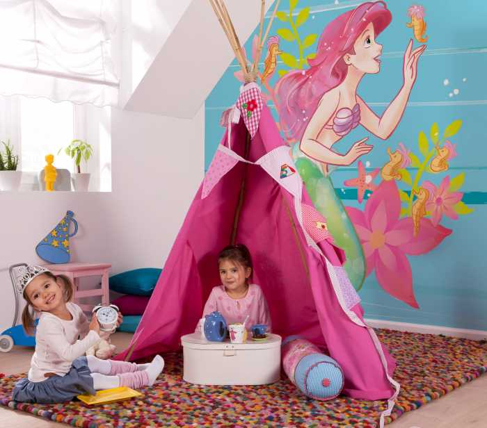 Digital wallpaper Ariel Little Friends