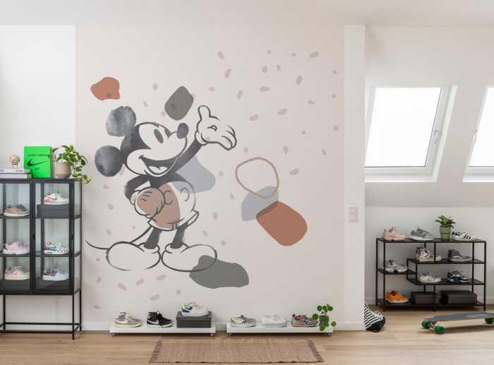 Digital wallpaper Mickey Organic Shapes