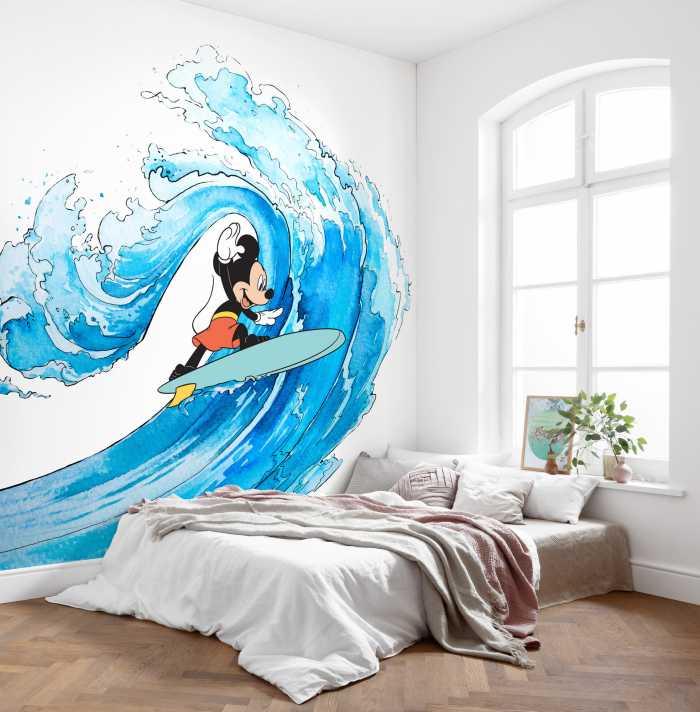 Digital wallpaper Mickey Surfing