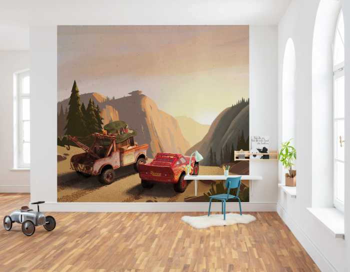 Digital wallpaper Cars Sundown