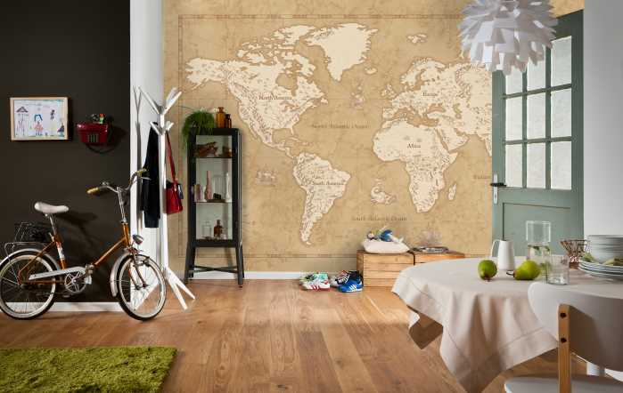 Digital wallpaper Vintage World Map