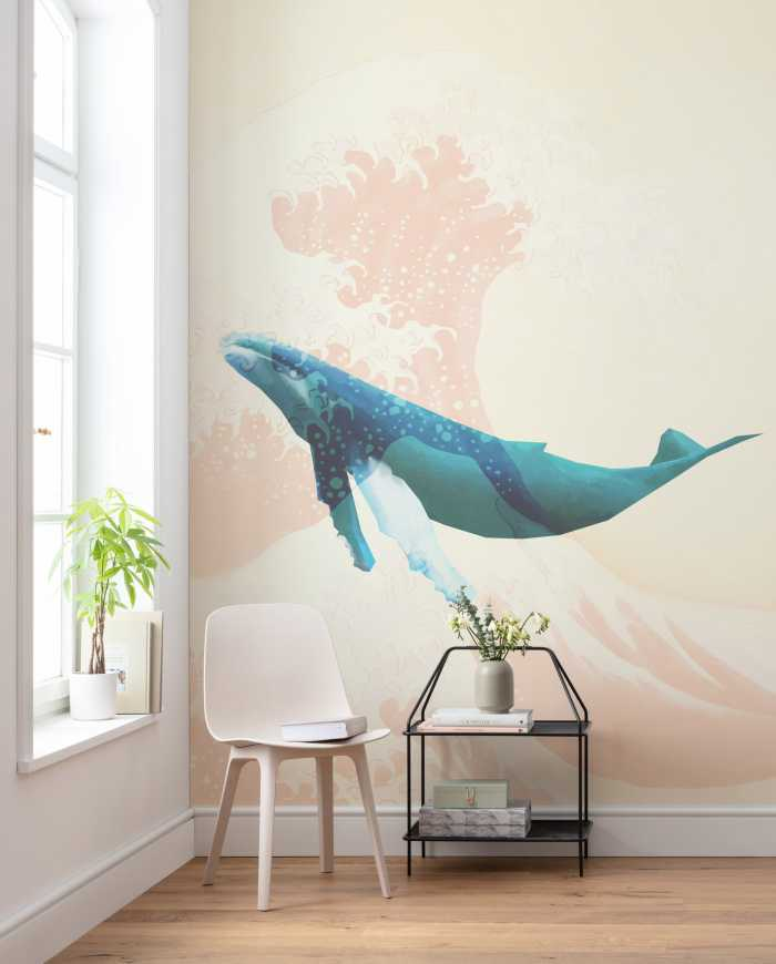 Digital wallpaper Whale Voyage