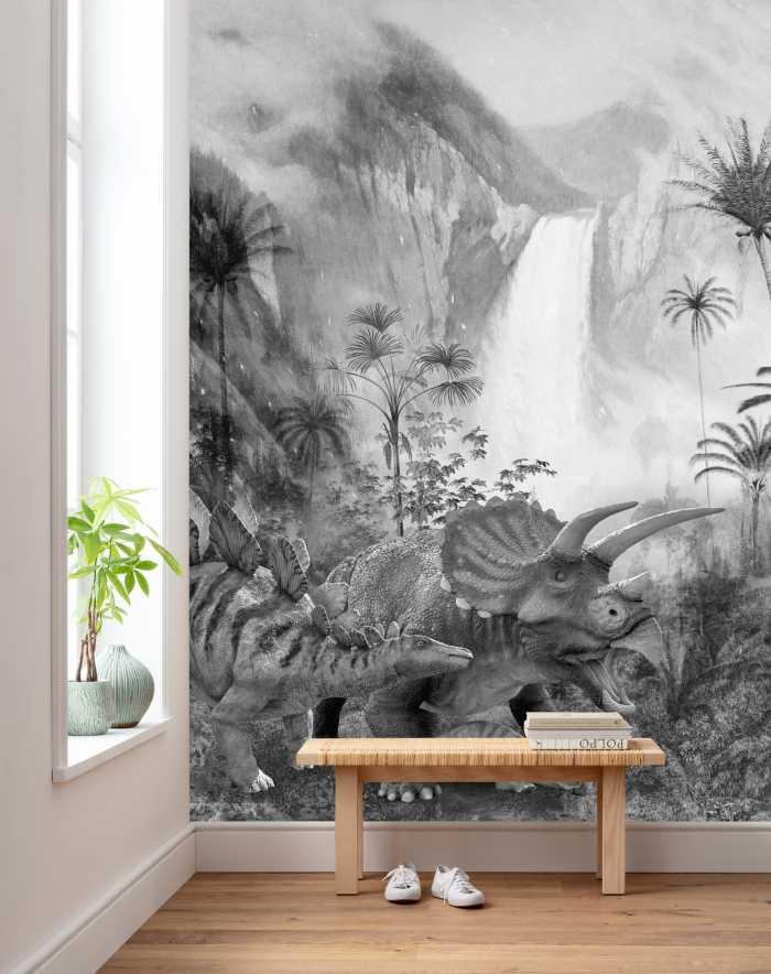 Digital wallpaper Jurassic Waterfall