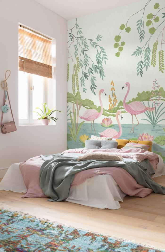Digital wallpaper Flamingo Vibes